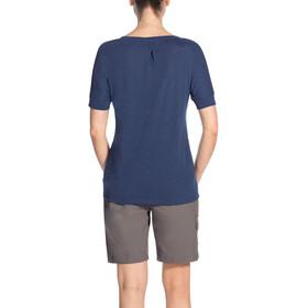 VAUDE Skomer V-Neck Shirt Women sailor blue